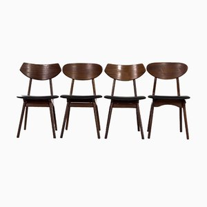 Teak Esszimmerstühle von Louis Van Teeffelen für Awa, 1960er