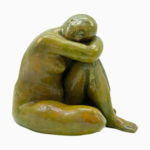 Seated Woman Terracotta Sculpture, Italy, 1960s