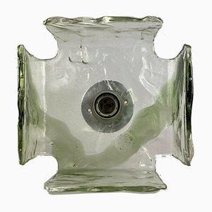 Eisglas Wandlampe von Carlo Nason für Kalmar, 1960er