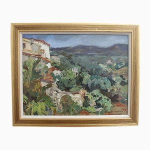 The Valley in Biot Côtes Dazur by Lucien Martial, 1960s