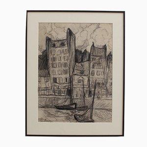 The Port of Le Havre von Fred Pailhès, 1950er