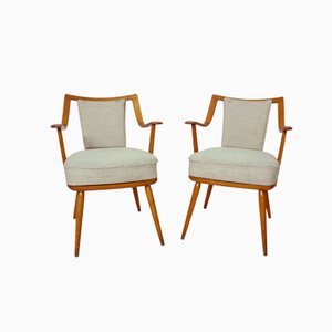 German Beechwood Easy Chairs from Casala, 1950s, Set of 2
