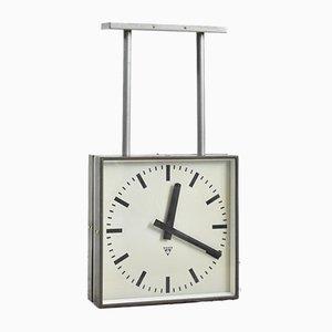 Doppelseitige Vintage Uhr von Pragotron