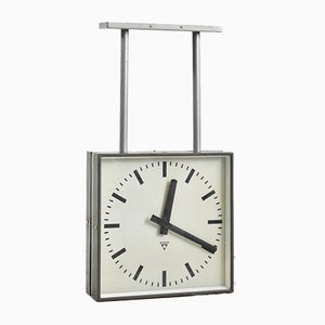 Vintage Double Sided Clock from Pragotron