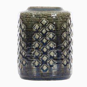 Jarrón Mid-Century moderno alargado de cerámica de Per & Annelise Linnemann Schmidt para Palshus, años 60
