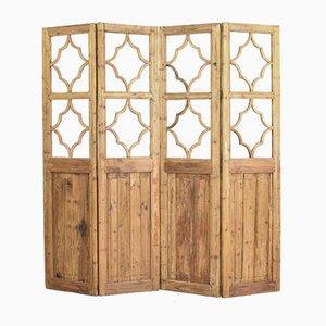 2 Pane Vintage Wooden Room Divider