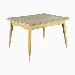 Tavolo in quercia, formica e alluminio, anni '50