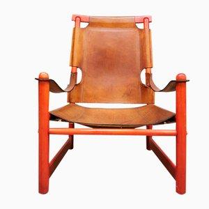 Vintage Leather Safari Armchair