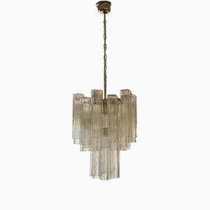Tubular Murano Glass Prism Chandelier