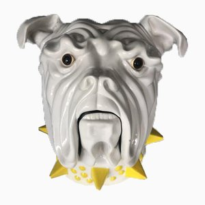 Keramik Bulldog Behälter von Mancioli Italy