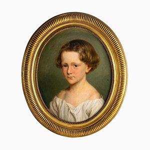 Portrait d'un Enfant, Huile sur Toile