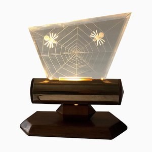 Night Light with Spiders Engraved in Plexiglass, 1960s