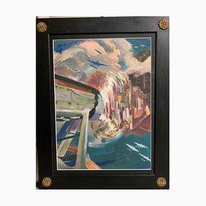Umberto di Lazzaro, Ten-Year Air Cruise Rome-Chicago-New York, 1933, Tempera