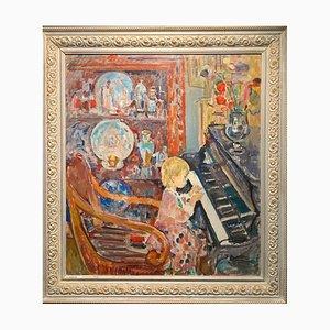 Gleb Savinov, Kleines Mädchen am Klavier, 1996