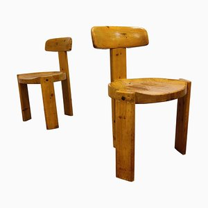Mid-Century Pine Wood Dining Chairs by Eero Aarnio, 1960s, Set of 2