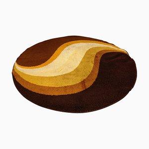 Large Modernist Round Carpet, 1970s