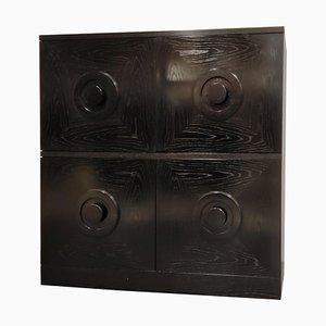 Brutalist Bar Cabinet in Black, 1970s