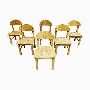 Pine Wood Dining Chairs by Rainer Daumiller for Hirtshals Savvaerk, Set of 6