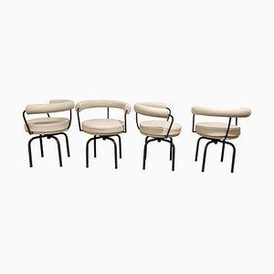 Sedie da pranzo LC7 vintage di Le Corbusier per Cassina, anni '70