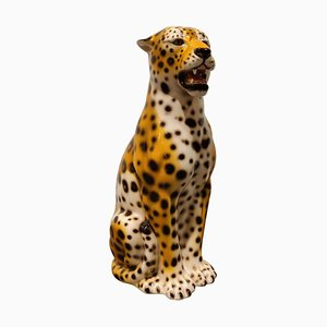 Vintage Leopard aus Keramik, 1970er