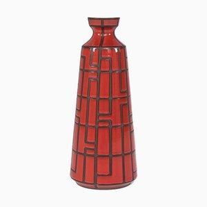 Rote Keramikvase