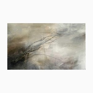 Juliette Paull, Morning Haze, Large Abstract Expressionist Oil Painting, 2011