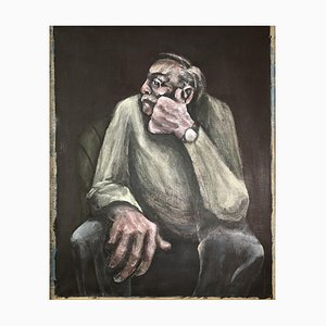 Julian Dyson, Seated Man, Figuratives Ölgemälde, 1990