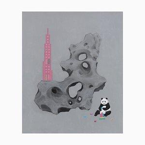 Zeitgenössische chinesische Malerei von Jia Yuan-Hua, Dream Builder, 2021