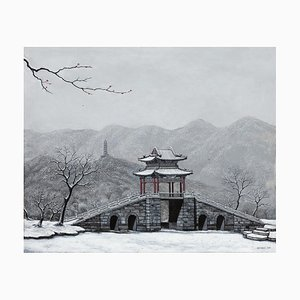Contemporary Chinese Painting by Jia Yuan-Hua, Bright Snow on the West Mountain, 2020