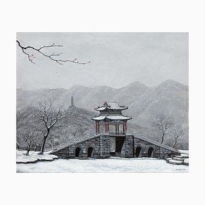 Zeitgenössische chinesische Malerei von Jia Yuan-Hua, Bright Snow on the West Mountain, 2020