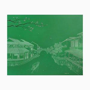 Contemporary Chinese Painting by Jia Yuan-Hua, Xitang Water Town, 2015