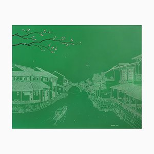 Contemporary Chinese Painting von Jia Yuan-Hua, Xitang Water Town, 2015