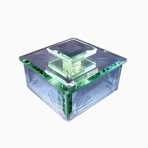Schachtel aus Kristall von Fontana Arte, 1930er