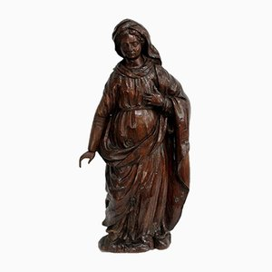 Oak Statue of a Saint, 19th Century