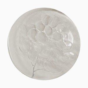 Plato de postre Kosgrap Mid-Century de vidrio artístico de Ann Warff para Kosta Boda