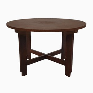 Dutch Modernist Oak Side Table, 1930s