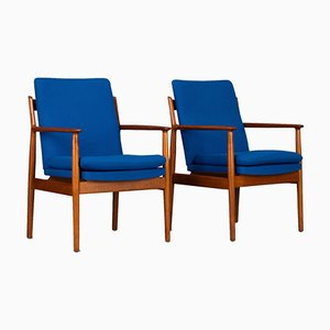 Model No. 341 Armchairs by Arne Vodder for Sibast, 1970s, Set of 2