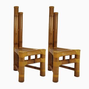Vintage Bamboo Side Chairs, 1970s, Set of 2