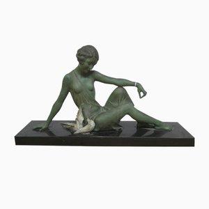 Woman with Birds Sculpture in Regula