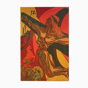 Italian Surrealist Crucifixion Painting