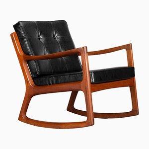 Danish Senator Rocking Chair by Ole Wanscher for France & Søn, 1950s