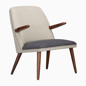 Danish Armchair in Pure Wool, 1960s