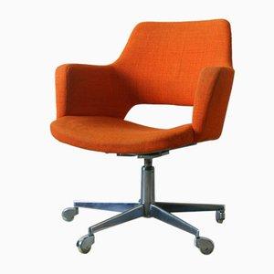 Orangefarbener Bürostuhl von Wilde + spieth, 1960er