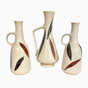 Ceramic Vases with Handles, Germany, 1960s, Set of 3