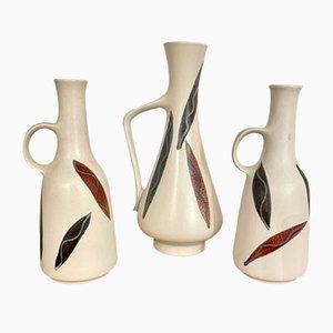 Vases en Céramique avec Poignées, Allemagne, 1960s, Set de 3