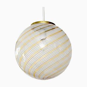 Swirl Pendant Light from Venini, 1970s