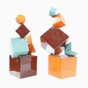 Ceramic Sculptures, Set of 2