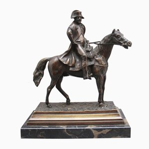 19th-Century Bronze Sculpture of Napoleon on Horseback