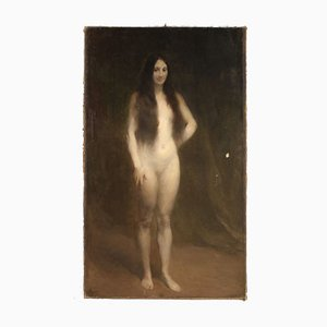 French Female Nude Painting, 1924