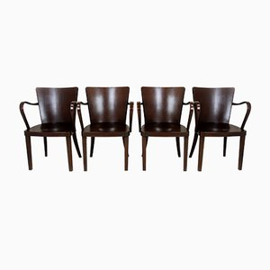 Bentwood B47 Armchairs by Michael Thonet, 1930s, Set of 4
